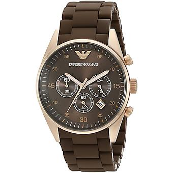 Emporio Armani AR5890 Brown & or sport Silicone Chronograph Watch