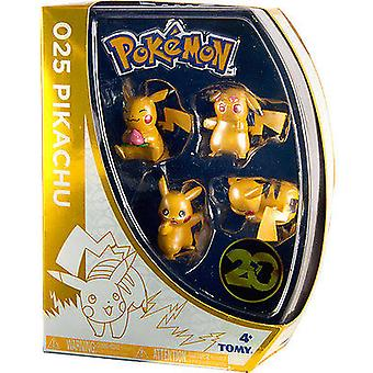 Tomy Pokemon Pikachu Figure 4-Pack Retro Coffret Exclusive
