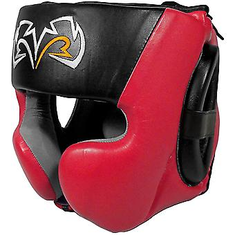 Rival Boxing RHG30 Mexican Style Cheek Protector Training Headgear - Black/Red