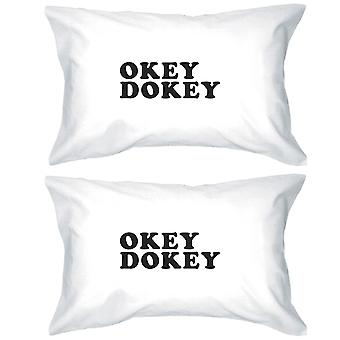 Okey Dokey Unique Letter Printed Decorative Pillow Case Gift Ideas