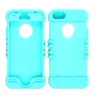 Unlimited Cellular Rocker Series Skin Case for Apple iPhone 5S (Fluorescent Blue