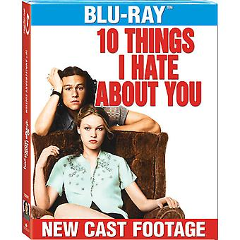 10 things I Hate About You [BLU-RAY] USA importerer