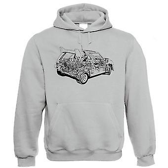 6R4 84 Diagram, Rally Car Hoodie