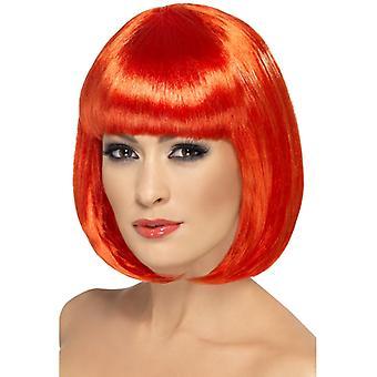 Partyrama wig, 30cm, Red