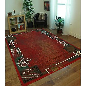 Shiraz Modern Dark Red Rug 8160-R55