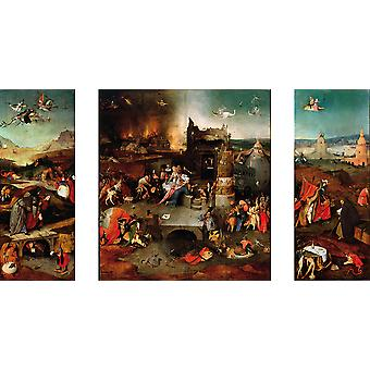 Hieronymus Bosch - Temptation of Saint Anthony Poster Print Giclee