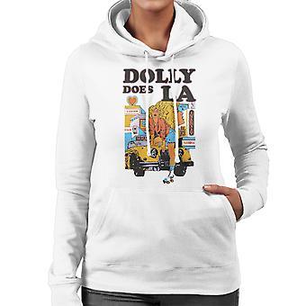 Dolly hat LA Roller Skater Girl Damen Sweatshirt mit Kapuze