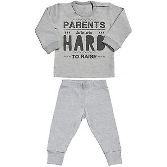 Spoilt Rotten Parents Hard To Raise Sweatshirt & Jersey Trousers Baby Outfit Set