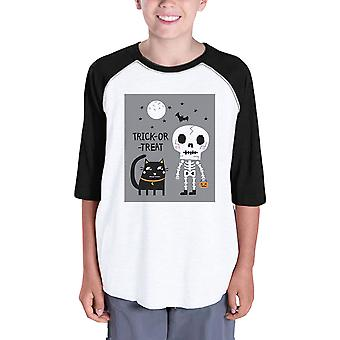 Trick-Or-Treat Baseball Shirt For Kids Halloween Costume Tshirt
