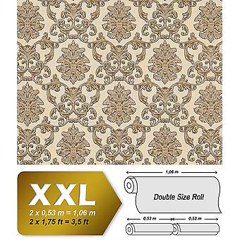 Baroque wallpaper EDEM 6001 91 non-woven wallpaper marked with ornaments glitter cream beige gold 10.65 m2
