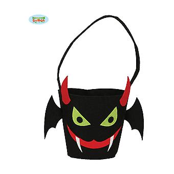Halloween and horror  Trick and treat vampire basket halloween 30cm