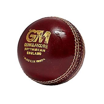 Gunn and Moore Chevron Swing Leather Cricket Ball Senior Red
