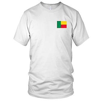 Benin Country National Flag - Embroidered Logo - 100% Cotton T-Shirt Kids T Shirt