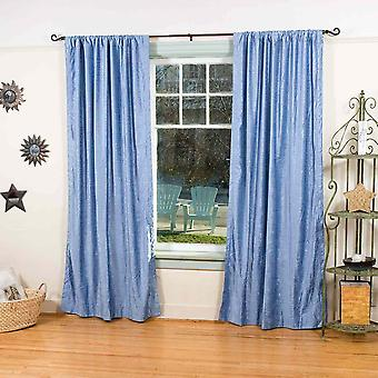 Caribbean Blue Velvet Curtains / Drapes / Panels - 43 X 84 Inches