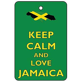Keep Calm And Love Jamaica Car Air Freshener