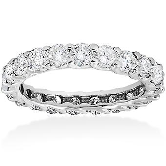3ct Trellis Diamond Eternity Wedding Ring 14K White Gold