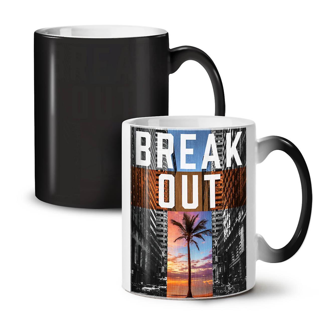 Out Break City Thé Tasse Changeant Céramique OzWellcoda Café 11 Noir Coloris Nouveau 1cTlJKF