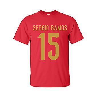 Sergio Ramos Spania helten T-shirt (rød)