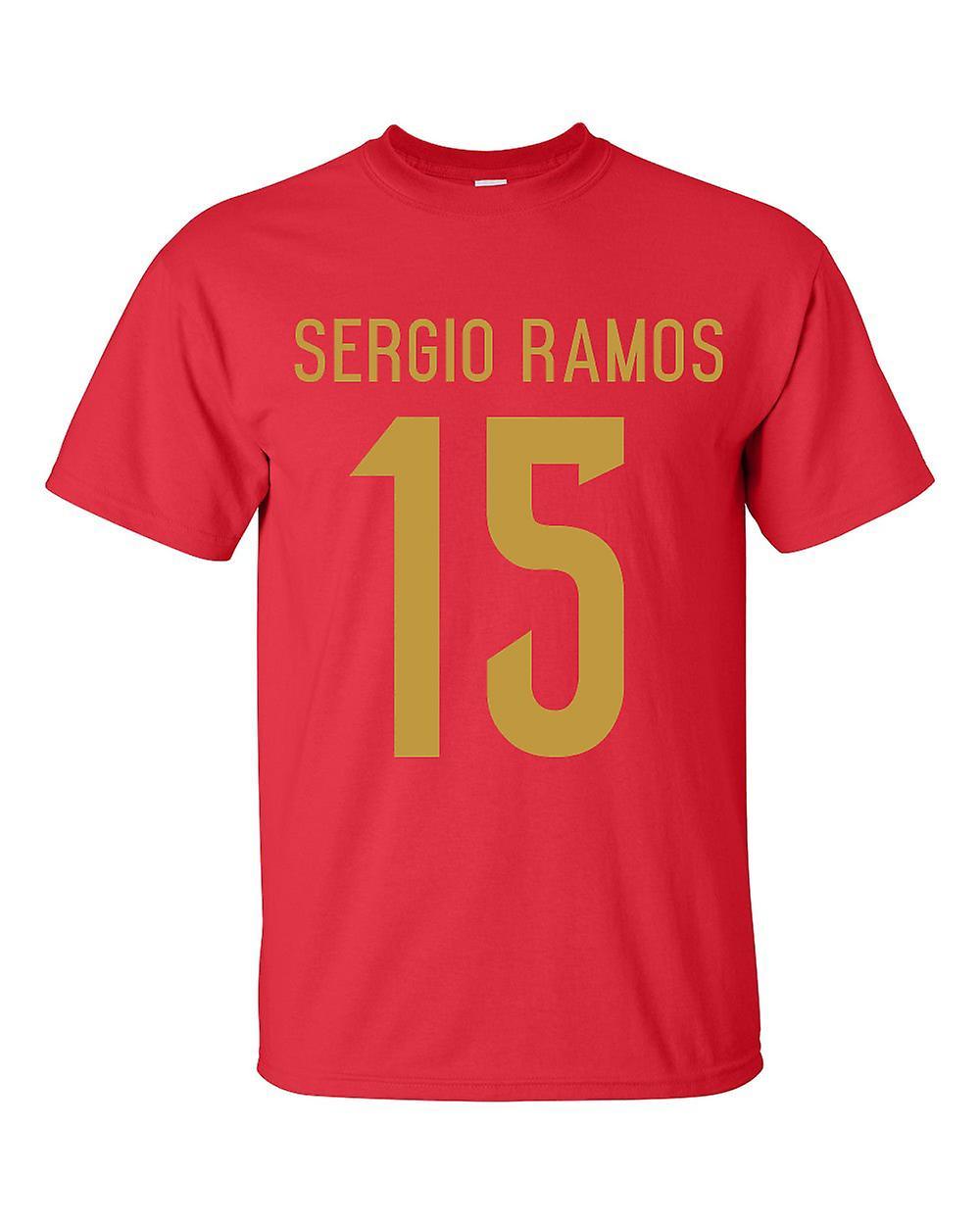 Sergio Ramos Spain Hero T-shirt (red)
