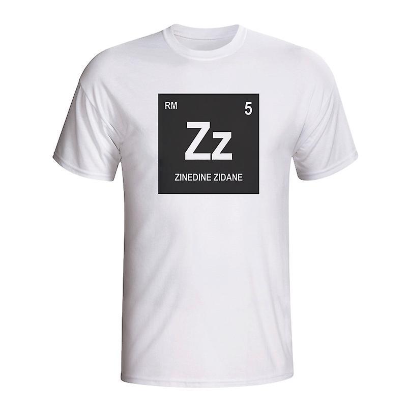 Zinedine Zidane Real Madrid Periodic Table T-shirt (white) - Kids