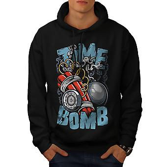 Bomba de tiempo estalla moda hombres BlackHoodie | Wellcoda