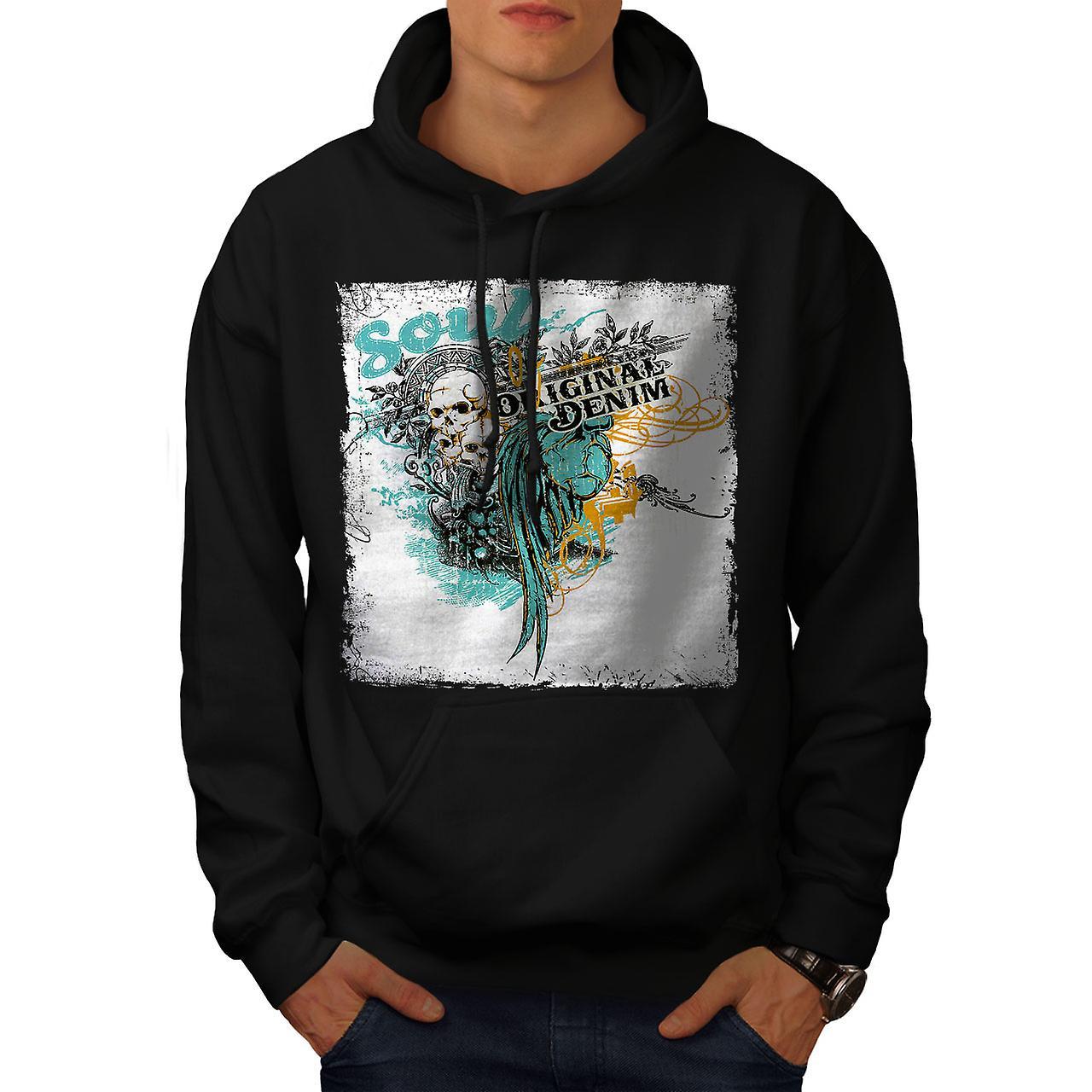 Original Art Dead Fashion Men Black Hoodie | Wellcoda