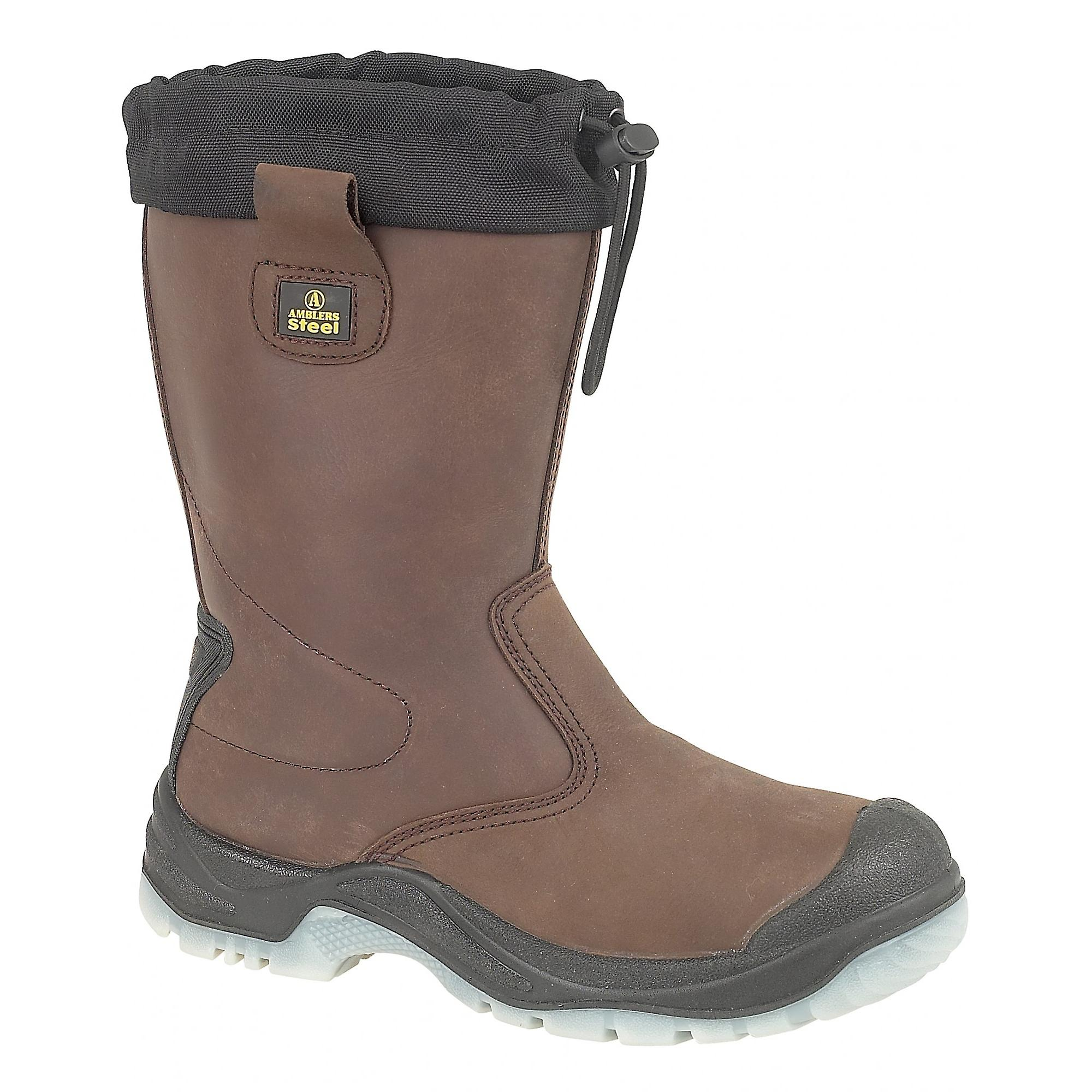 Amblers Steel FS219 Safety Pull On / Mens Boots / Riggers Safety