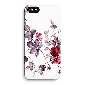 iPhone 5 / 5S / SE Full Print Case (Glossy) - Pretty flowers
