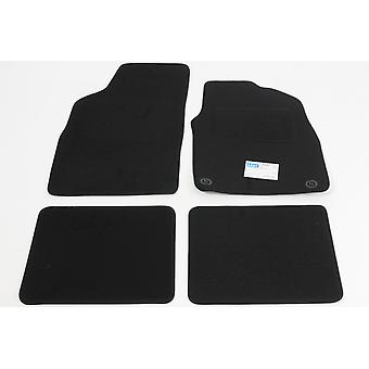 Fully Tailored Car Floor Mats - Fiat PANDA 2006-2012 Black