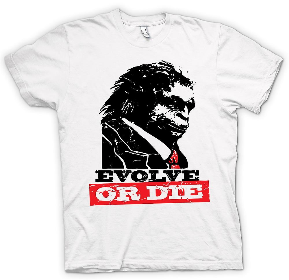 Womens T-shirt - Evolve Or Die Planet Of Apes - Funny Retro