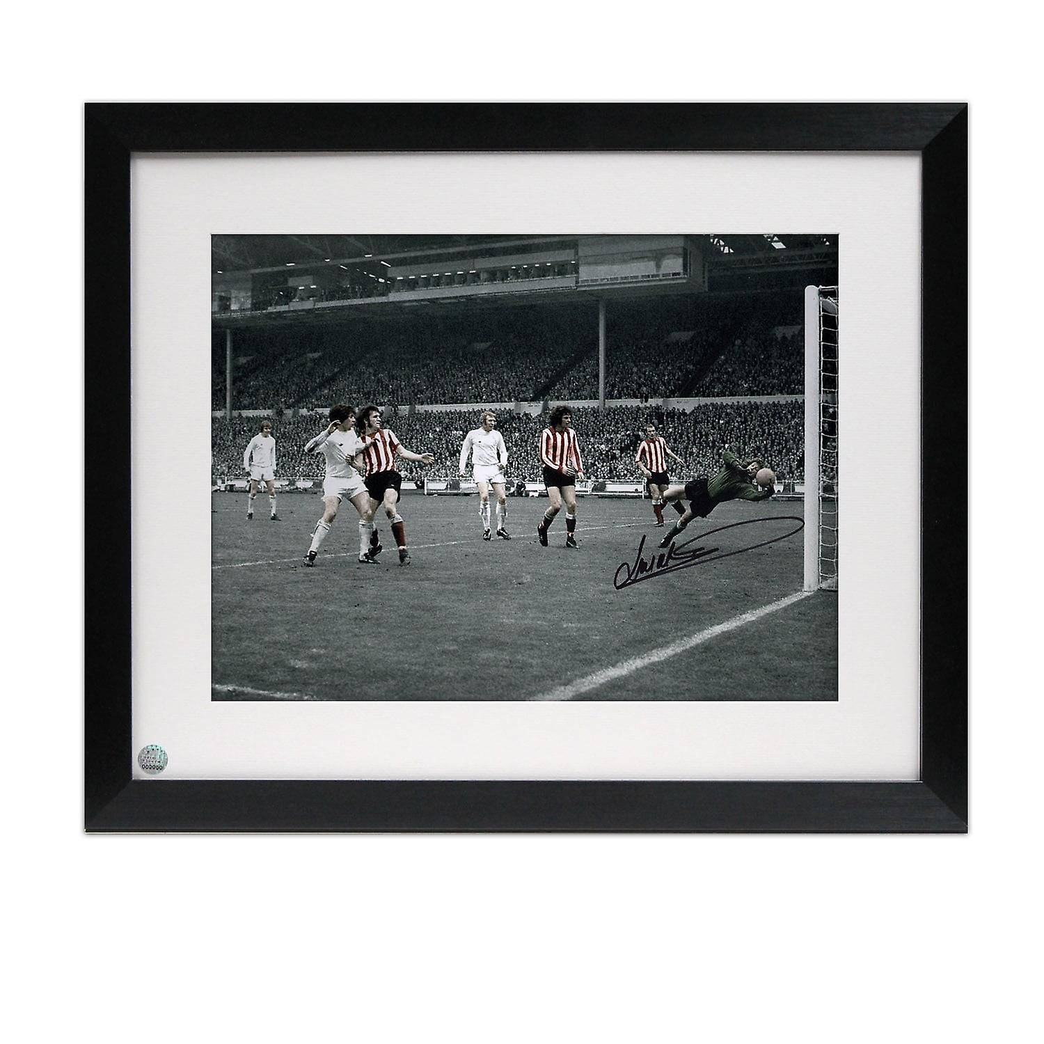 Framed Jim Montgomery Signed Photo  FA Cup Final Wonder Save