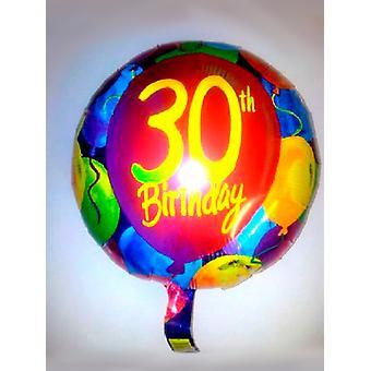 Palloncino foil 30 ° compleanno con palloncini