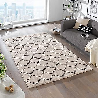 Design high pile carpet Nouveau cream Brown