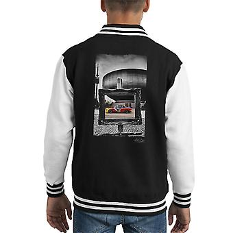BMW Art Car Calder Black Frame Kid's Varsity Jacket