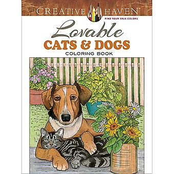 Dover Publications-Creative Haven: Loveable Cats/Dogs