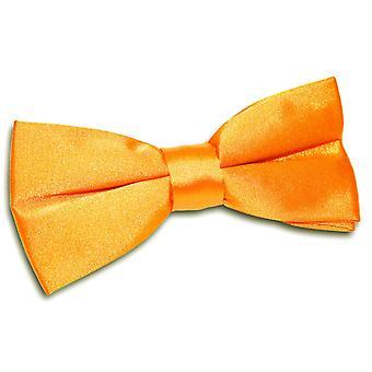 Fluorescent Orange Plain Satin Pre-Tied Bow Tie
