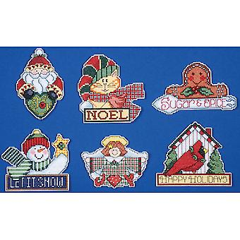 Signs Of Christmas Ornaments Counted Cross Stitch Kit-3.5