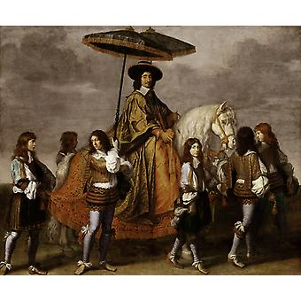 Chancellor Seguier at the Entry of Louis, LE BRUN, Charles, 60x50cm
