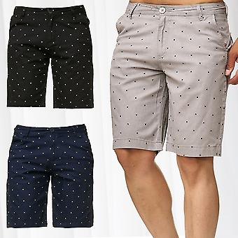 Men's Chino Shorts Casual Bermuda Shorts 3/4 Capri Cropped Pattern Summer Pants