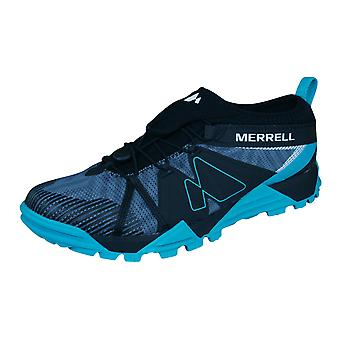 Mens Merrell Trail Runner Trainers Avalaunch Shoes - Blue and Black