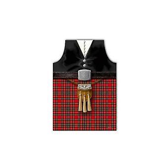 Union Jack use delantal de Piper de Escocia con diseño Sporran