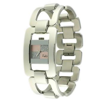 Saphir Ladies Classic Watch Checkerboard Dial Silver Tone 210029A-5