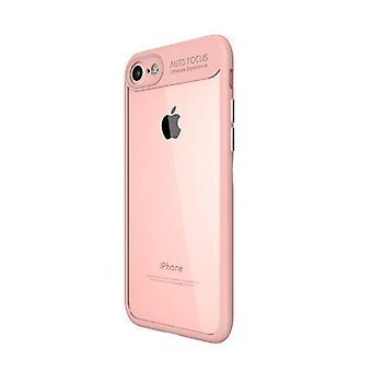 Stuff Certified® iPhone X - Auto foco armadura caso cobrir Cas Silicone TPU caso rosa