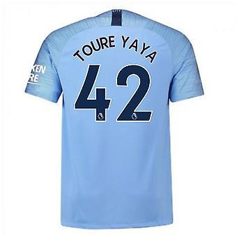 2018-2019 homem cidade Nike Vapor casa combina com camisa (Toure Yaya 42)