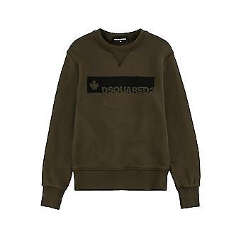 DSQUARED2 Kinder DSQUARED2 Kids Khaki & Black Logo Sweatshirt