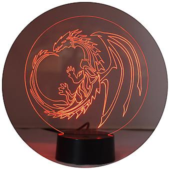 Dragon Circle Colour Changing LED Acrylic Light