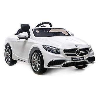 Licensed Mercedes-Benz 63 AMG 6V Twin Motor Ride on Car White With Parental