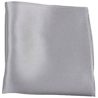 Knightsbridge Neckwear Fine Silk Pocket Square - Silver
