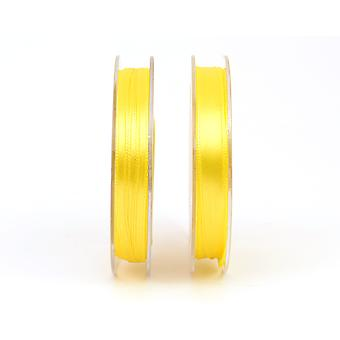 3mm Bright Yellow Polyester Satin Craft Ribbon - 10m | Ribbons & Bows for Crafts
