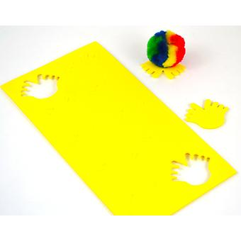 10 Foam Self Adhesive Feet Shapes for Bugs - Yellow | Childrens Craft Foam